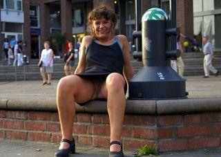 Ohne Slip in der öffentlichen Fussgängerzone