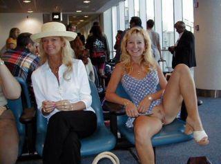 Ohne Slip auf dem Flughafen